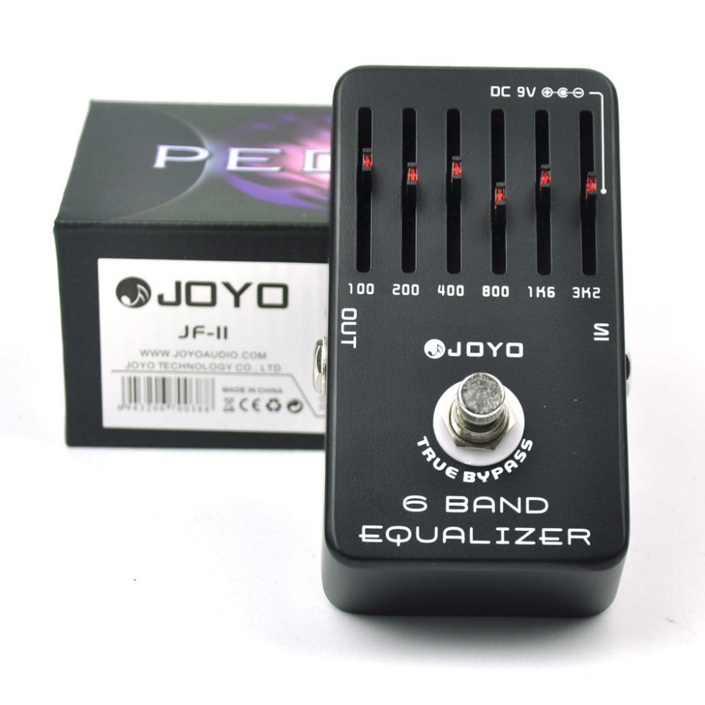 JOYO JF-11 6 Band EQ Graphic Equalizer Guitar Effect Pedal joyo eq 307 folk guitarra 5 band eq acoutsic guitar equalizer high sensibility presence adjustable with phase effect and tuner