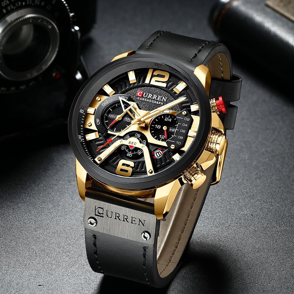 CURREN Lovers Watches Set Brand Women Men Sport Watches Men's Ladies Quartz Clock Casual Military Waterproof Wrist Watch Set
