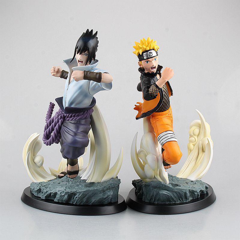 free shipping Naruto Shippuden STORM 4 Uzumaki Naruto / Uchiha Sasuke PVC Figure Collectible Model Toys or Christmas gift