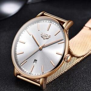 Image 2 - Ligeレディース腕時計トップブランドの高級防水腕時計ファッションの女性ステンレス鋼超薄型カジュアル腕時計クォーツ時計