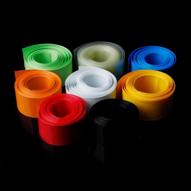 1PC 5m PVC Heat Shrink Tubing Tube Wrap Kit For 18650 18500 Battery Flat Round 18.5mm W315