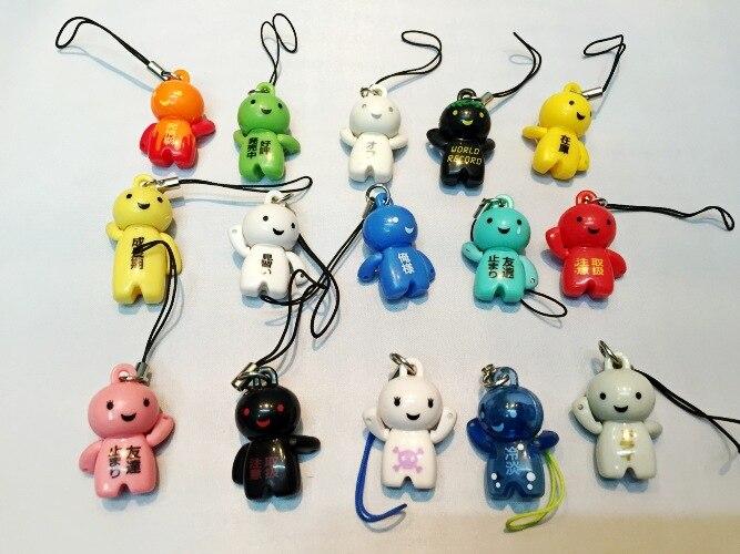 100pcs Japanese Cartoon Anime Action figure chain doll.3-4cm hard PVC online game model toy d12