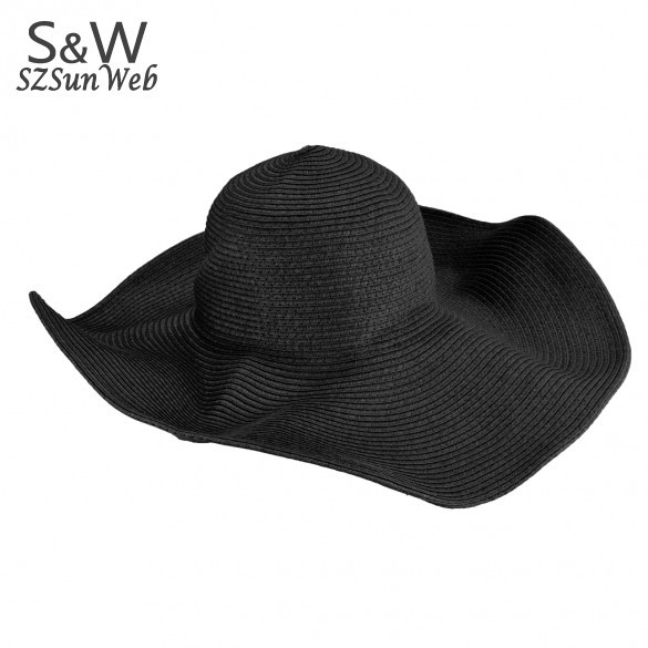 2012 Fashion Jewelry Hollywood sexy lovely wide wire brim Summer / Beach / Sun /Floppy / Straw hat 6 colors 41