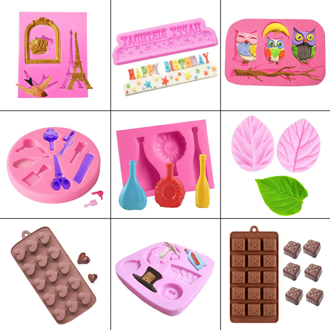 1PC Silicone Cake Mold Chocolate Soap Molds Cake Stencil Bakery Pastry Baking Kitchen Accessories moules silicone patisserie