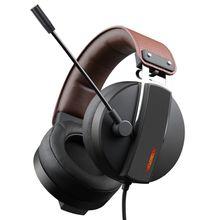Xiberia S22 PC Gamer Headset Gaming Headphone dengan Mikrofon untuk Komputer USB 7.1 Surround Sound Permainan Headset Bass Pelindung Kepala
