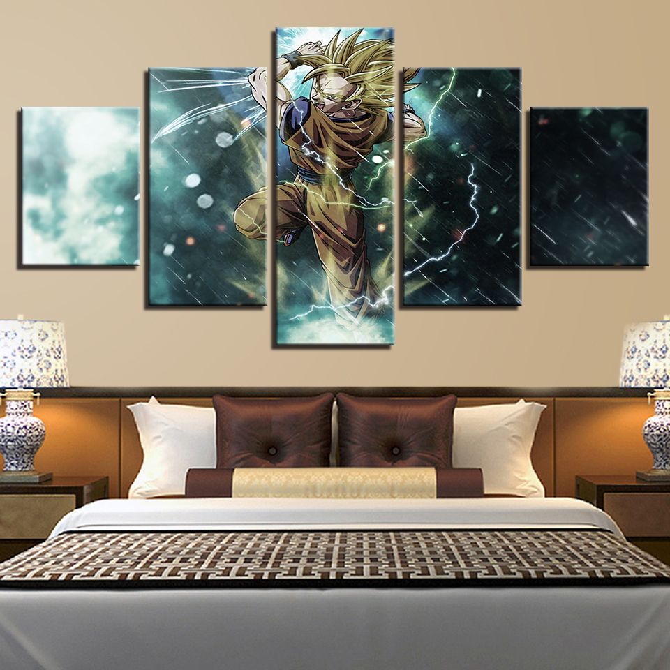 Canvas HD Prints Pictures Living Room Home Decor 5 Pieces
