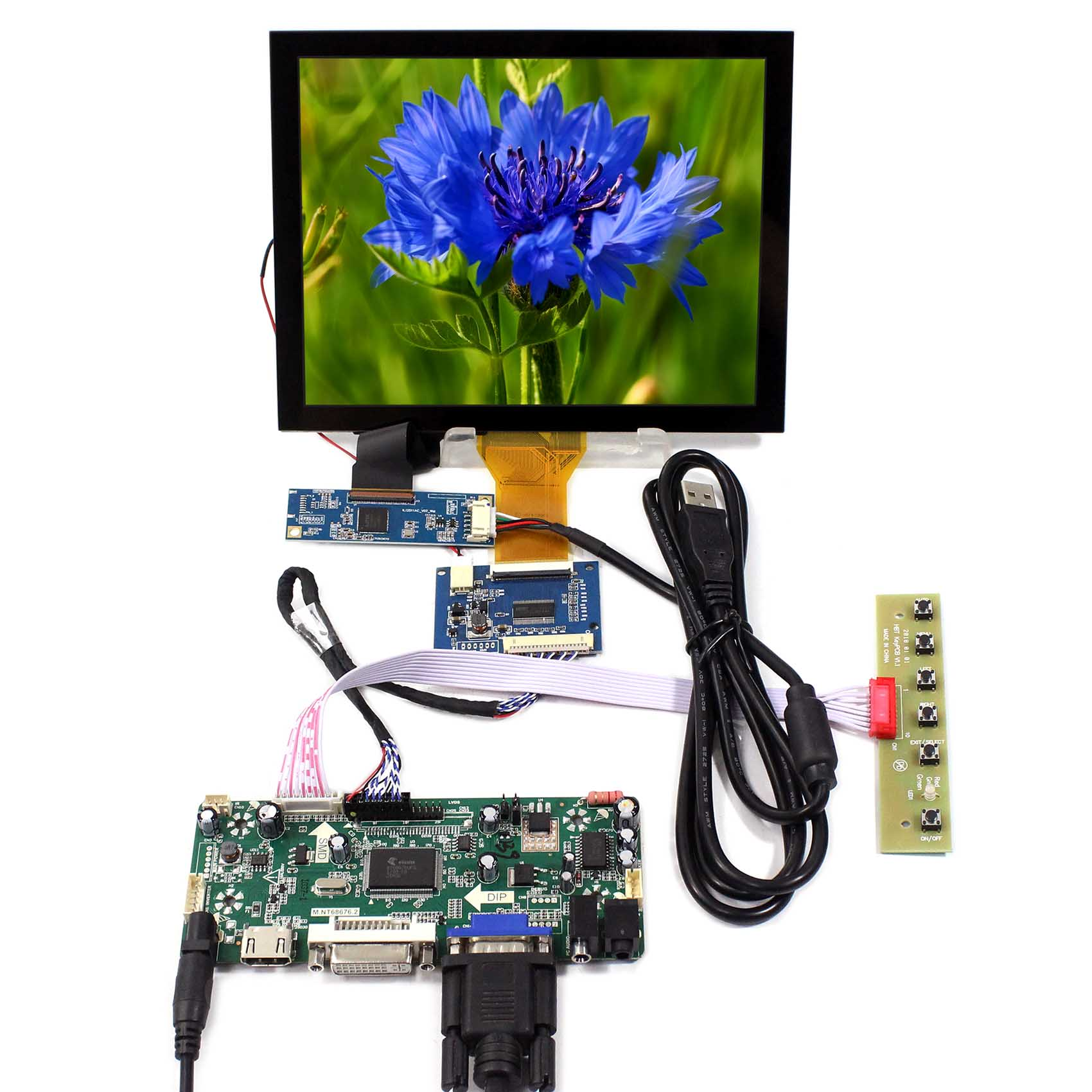 8inch EJ080NA-05A 800x600 LCD Screen Capacitive Touch Panel Backlight WLED M.NT68676 HDMI DVI VGA AUDIO LCD Controller Board hdmi vga av audio usb lcd controller board 8inch 800x600 ej080na 05a lcd screen