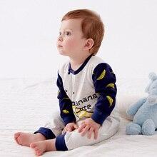 Купить с кэшбэком  Spring New Product Newborn Baby Cotton Long Sleeves Clothing Fashion Cartoon Printed Baby Pajamas Rompers Infant Baby Clothes