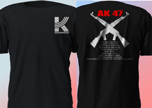 2019 Fashion Double Side New Kalashnikov Ak 47 Ak47 Russia Gun Riffle Military Army Us T Shirt Unisex Tee