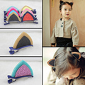 Baby Girl Kids Cloth pair HairPins cute cat ear shape Clip stand Headbands Accessories free shipping