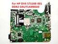 Para hp dv6 laptop motherboard 571188-001 daut1amb6e0 ddr2 totalmente testado bom estado