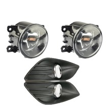 1Set Replacement Front Fog Light Bulbs With Fog Lamps Bezel Covers Kit For Ford Focus 2009