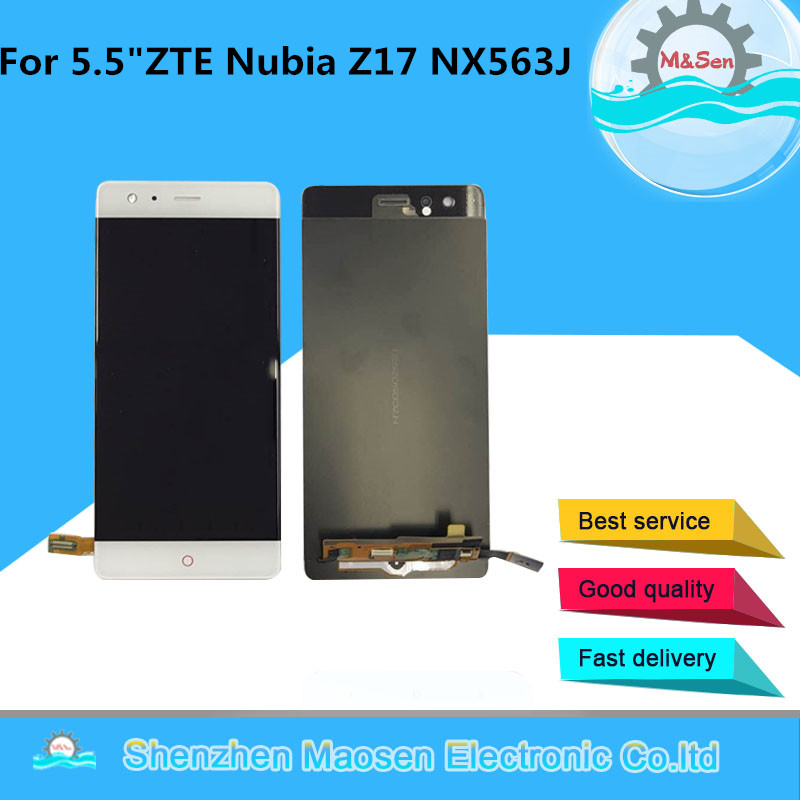 M&Sen For 5.5 ZTE Nubia Z17 NX563J LCD screen display+touch panel digitizer For ZTE Nubia Z17 NX563J display replacement