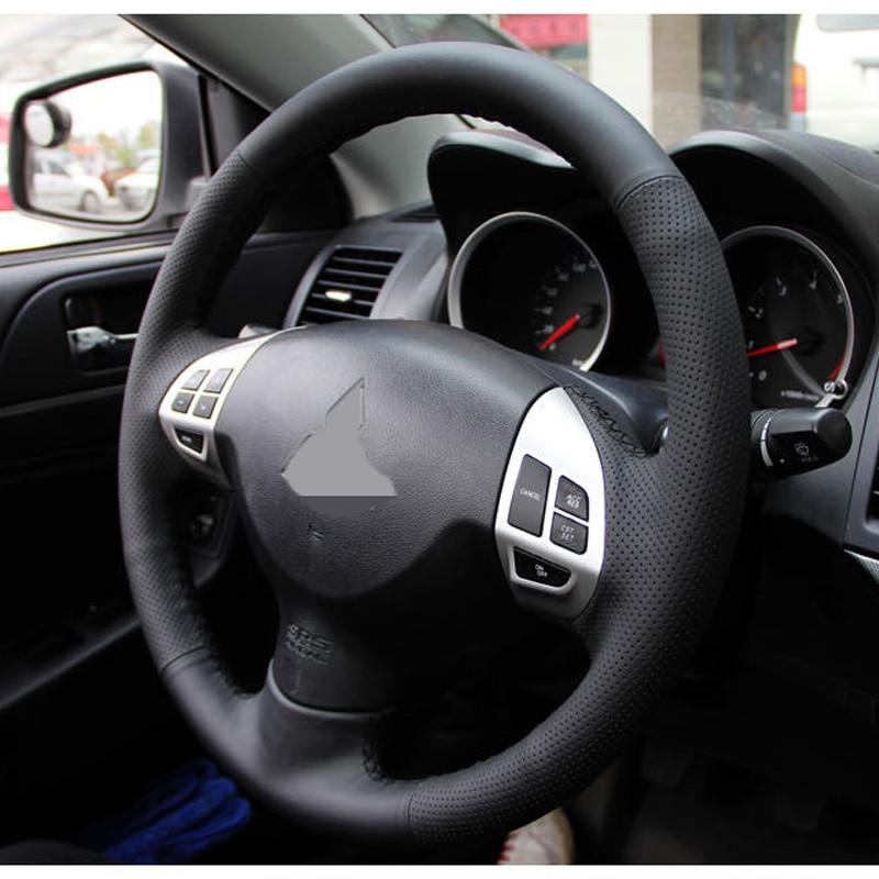 Crni poklopac upravljača za umjetne kože za Mitsubishi Lancer EX10 - Dodaci za unutrašnjost automobila - Foto 2