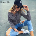 Dower Me Lace up Winter Sweater Women 2016 Casual Knitwear Sexy Jumper Elastic Hem Pullover Knitted Shirt
