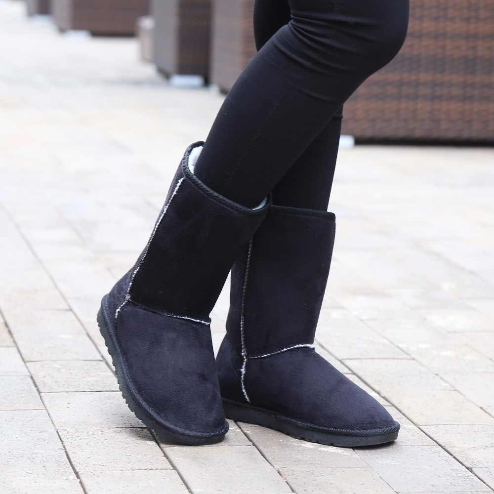Koovan Yeni Yıl Satış Kadın Botları 2017 Kadın Kar Botları Kış Ayakkabı Payetler Bayan Botları günlük ayakkabılar kadın Kısa Kızlar