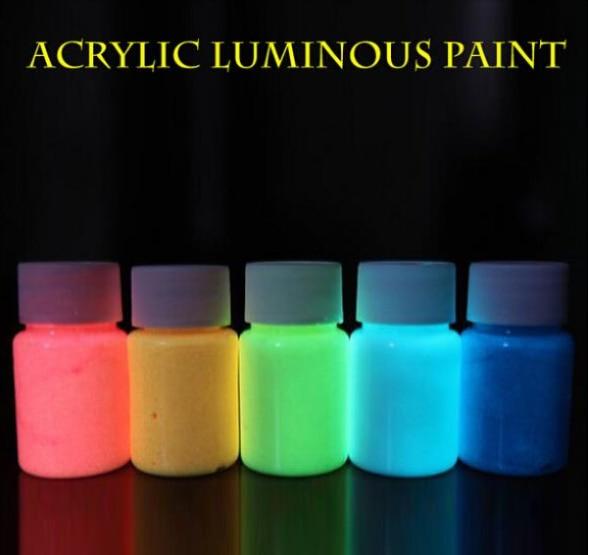 12 couleurs 5 picesensemble colorants lumineux poudre de pigment de peinture pigment lumineux parti - Peinture Colorant