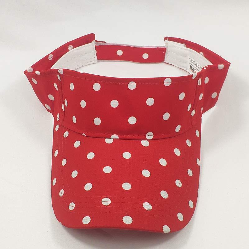 Cute Daily Women Polka Dots Summer Sun Visor Hat Cap Black Red White Trip Jogging Visors
