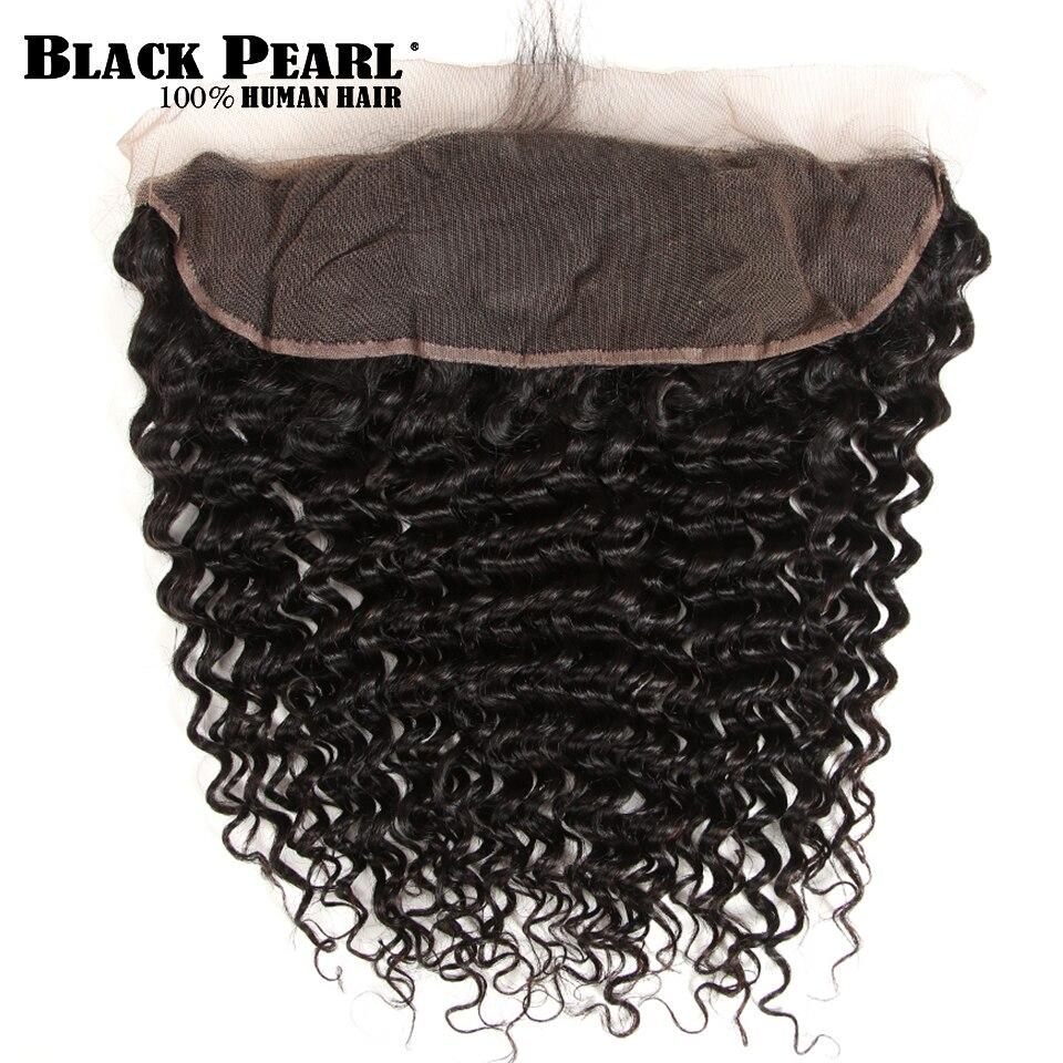 Black Pearl Förfärgade brasilianska Deep Wave Bundles Med Frontal - Mänskligt hår (svart) - Foto 4
