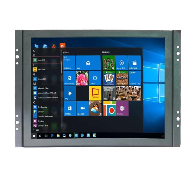Livraison gratuite 8 pouces 4:3 petit écran de moniteur vidéo couleur LCD 1024x768 VGA BNC HDMI entrée pour PC CCTV sécurité à domicile