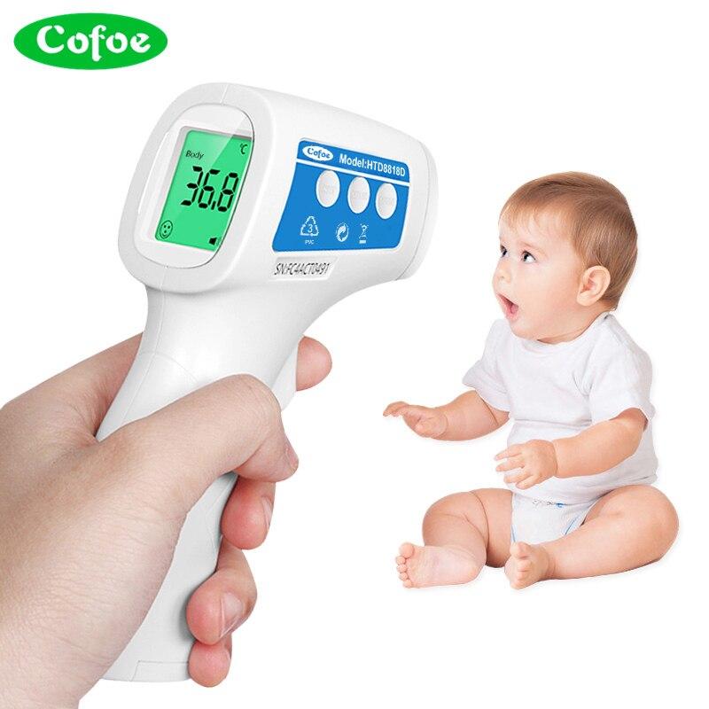 Cofoe Febbre Fronte Termometro A Infrarossi Temperatura Corporea Misura Meter IR Senza Contatto Digitale Strumento Portatile per il Bambino di Età