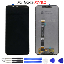 Original For Nokia X7 LCD Display 10 Touch Panel Screen For Nokia 8.1 Screen display TA-1131 LCD Digitizer Replacement Spare LCD