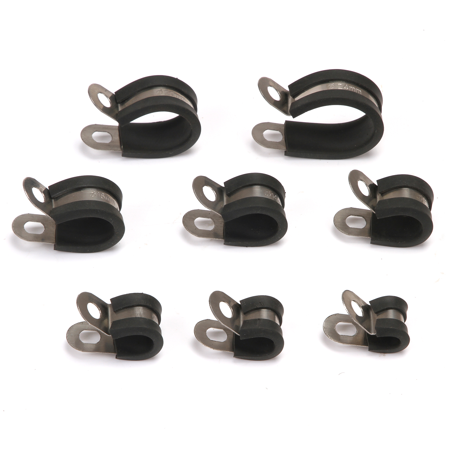 20mm 316 Stainless Steel W5 Cable rubber lined hose Clamp P CLIP PACK OF 10