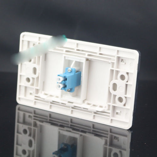 120 мм стены лицевой один Порты и разъёмы Волоконно-Оптические LC Кабельный разъем муфта разъем лицевой панели