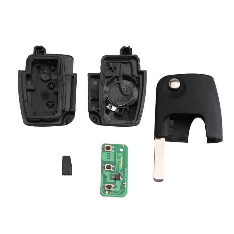 Image 4 - BHKEY 433Mhz 3Buttons Folding Remote Car key For Ford 4D60 4D63 Chip For Ford Focus 2 3 mondeo Fiesta key Fob HU101 Blade-in Car Key from Automobiles & Motorcycles