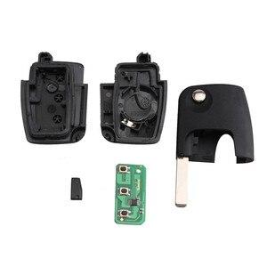 Image 4 - BHKEY llave de coche plegable con 3 botones, 433Mhz, para Ford 4D60 4D63, Chip para Ford Focus 2 3, Mondeo Fiesta, llavero Fob HU101 Blade