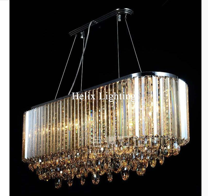 New Luxury Crystal Pendant K9 Champagne Crystal Chandelier Light Hotel Hall Living Room Dining Room AC 110-240V Free Shipping free shipping d450mm luxury k9 crystal chandelier lamp k9 golden crystal hotel hall light led crystal pendant 100