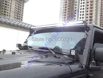 1 pc LED10-400W Super slim DC12V 24V ip68 waterproof 6000k 40inch 400W 3D led light bar for truck auto SUV ATV auto products