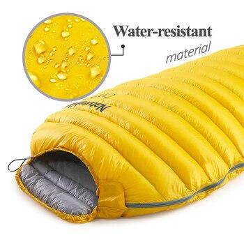 Naturehike CW300 Ultralight Outdoor  White Goose Down Mummy Sleeping Bag  NH18S300-D 4