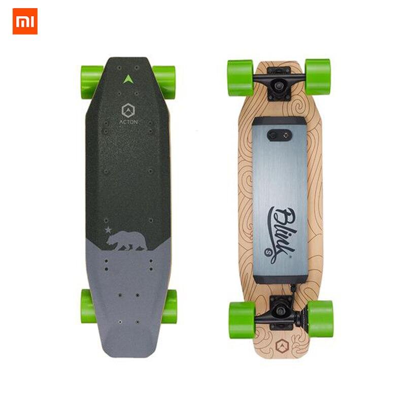 En Stock Xiaomi ACTON Sans Fil Télécommande Smart Électrique Planches À Roulettes LED Lumière 12 km D'endurance pour 16 à 50 ans