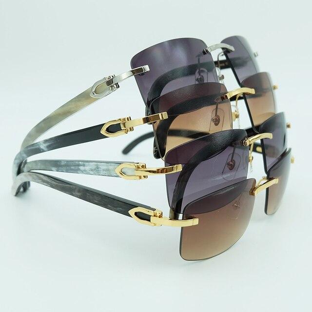 eb21e913b0 Square Sunglasses Men Mottled Genuine Buffalo Horn Mens Luxury Brand Designer  Sunglass Vintage Festival Carter Buffs