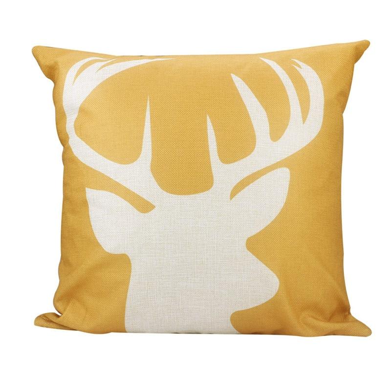 Новый Винтаж олень узор чехол pillowslip льна желтый цвет талии подушка наволочка 45*45 см оптовая продажа и в розницу распродажа