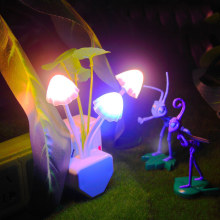 LED Night Light Mini EU Plug Light Sensor Control ON/OFF Novelty flower Bedroom lamp For Baby kids Romantic Light home decor novelty light sensor led night light baby bedside lamp night lamp luminarias sleep light for kids bedroom stair eu us plug
