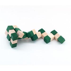 Image 3 - 27 セクション木製の定規ヘビツイストパズルホット販売チャレンジ IQ 脳のおもちゃ古典的なゲーム