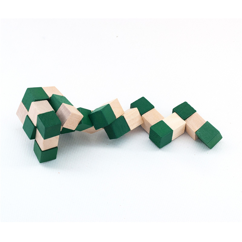 Image 3 - 27 Sections  Wooden Snake Ruler Snake Twist Puzzle Hot Selling Challenge IQ Brain Toys Classic Game-in Magic Cubes from Toys & Hobbies