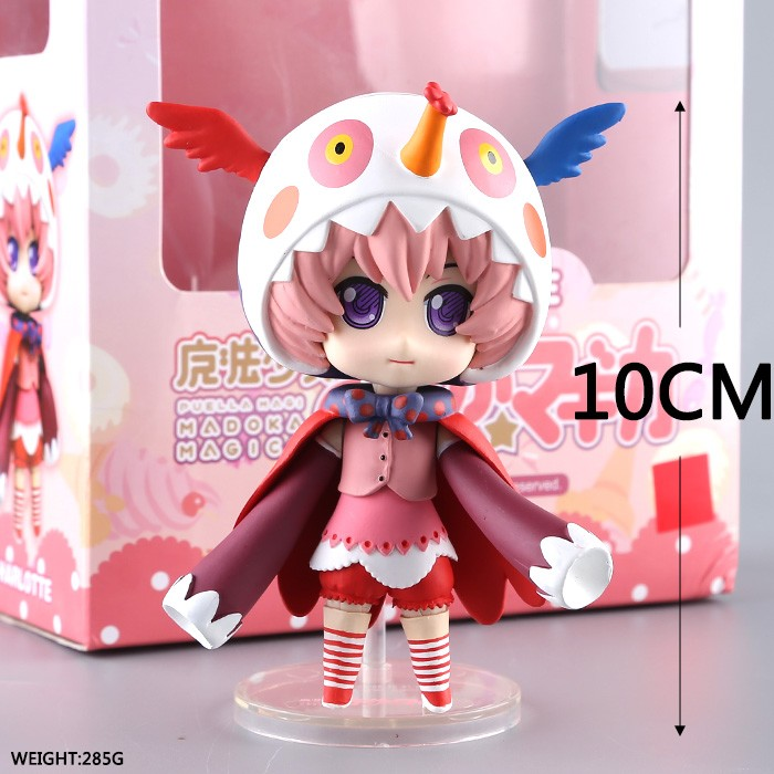 Anime Magical Girl PVC Action Figure Charlotte Kewpie Q version Collectible Model Toy Gifts with box 10cm