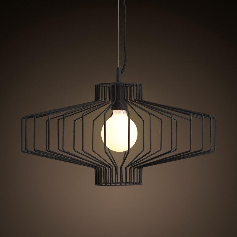Luminaria Singola Testa di Ferro Semplice Lanterna Lampadario di Illuminazione per il Ristorante Soggiorno Balcone Couture Hanglamp di Illuminazione A LED