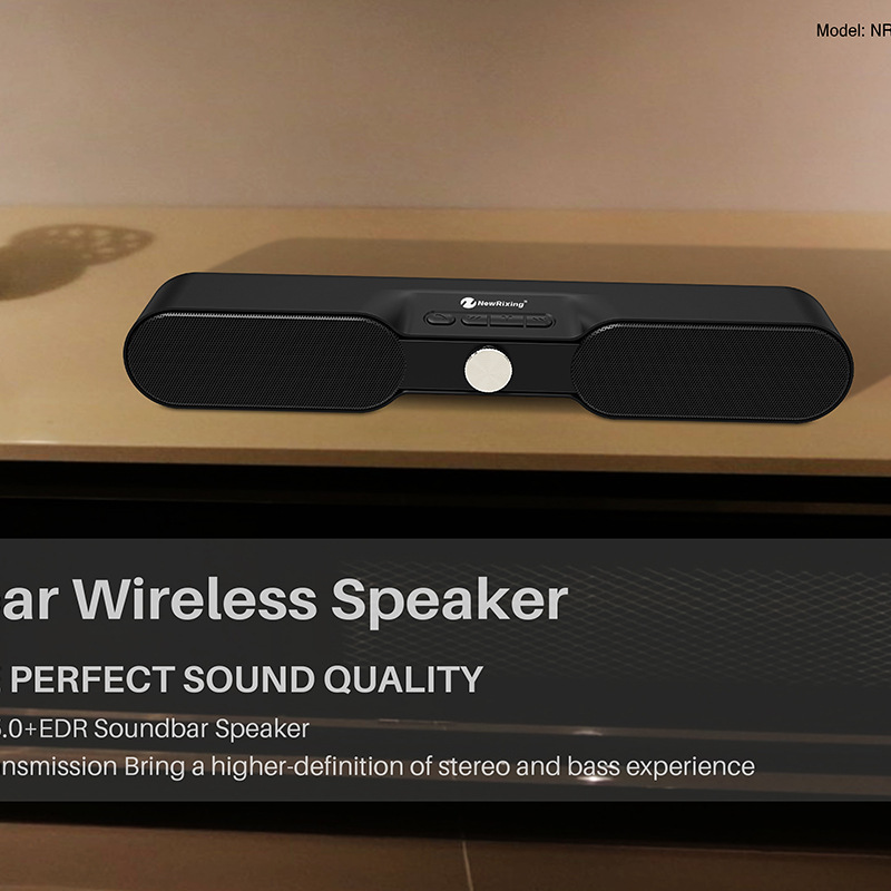 HIFI Soundbar Super Bass Bluetooth Speaker Portable Column Wireless Stereo Receiver 3D Subwoofer Loudspeaker for Phone TV PC цена 2017