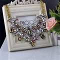 Collares za mulheres 2017 declaração de moda colar de correntes cristal gota tassel maxi colar choker pingentes collier jóias n1447