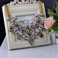 Za de las mujeres 2017 de la manera collares collar de la declaración cadenas crystal choker borla maxi colar collier joyería colgantes n1447