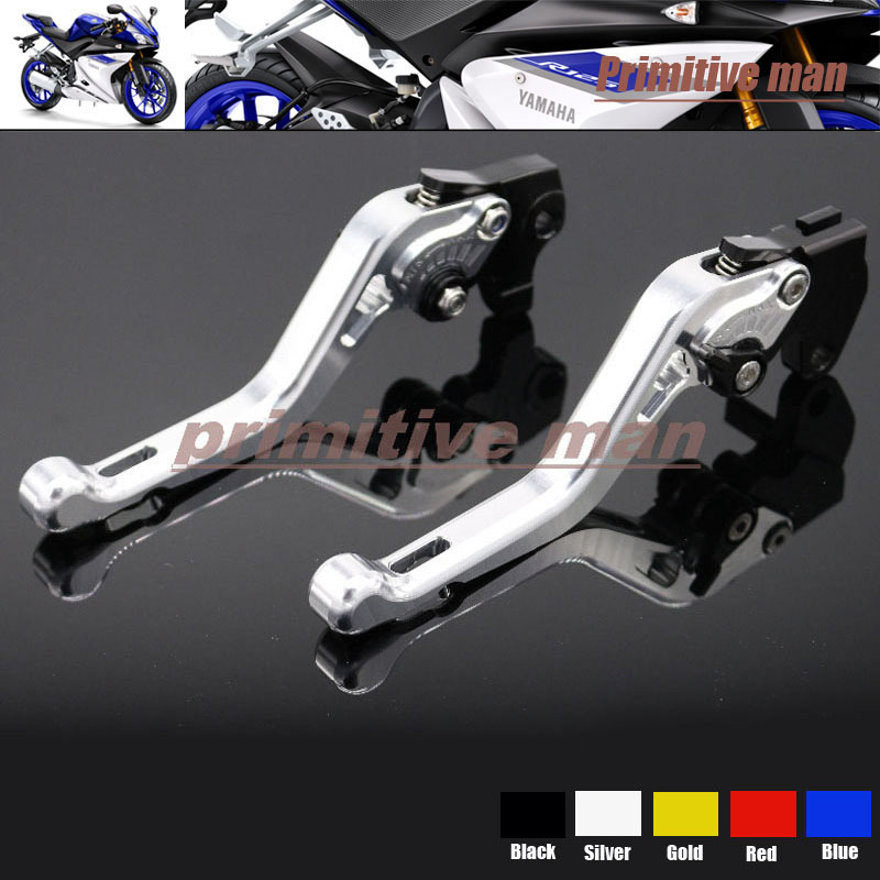 ФОТО For YAMAHA YZF R125 2008-2011 Motorcycle Accessories Short Brake Clutch Levers Silver