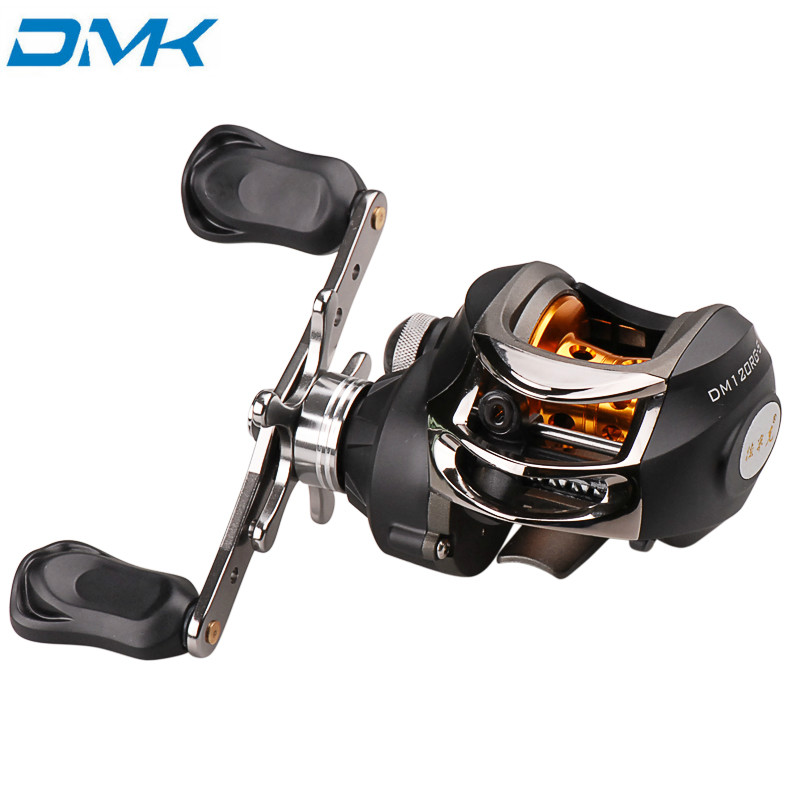DMK <font><b>DM120</b></font>-S Fishing Casting Reel 6.3:1 9+1BB Left Right Hand Water Drop Wheel Baitcasting Reels Ocean Fishing Tackle image