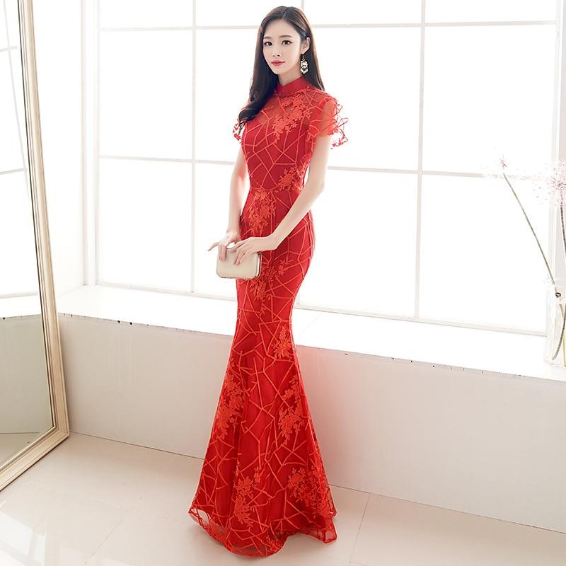 cc75e29f49 HOT SALE] Navy Blue Chinese Oriental O Neck Sequins Wedding Women ...