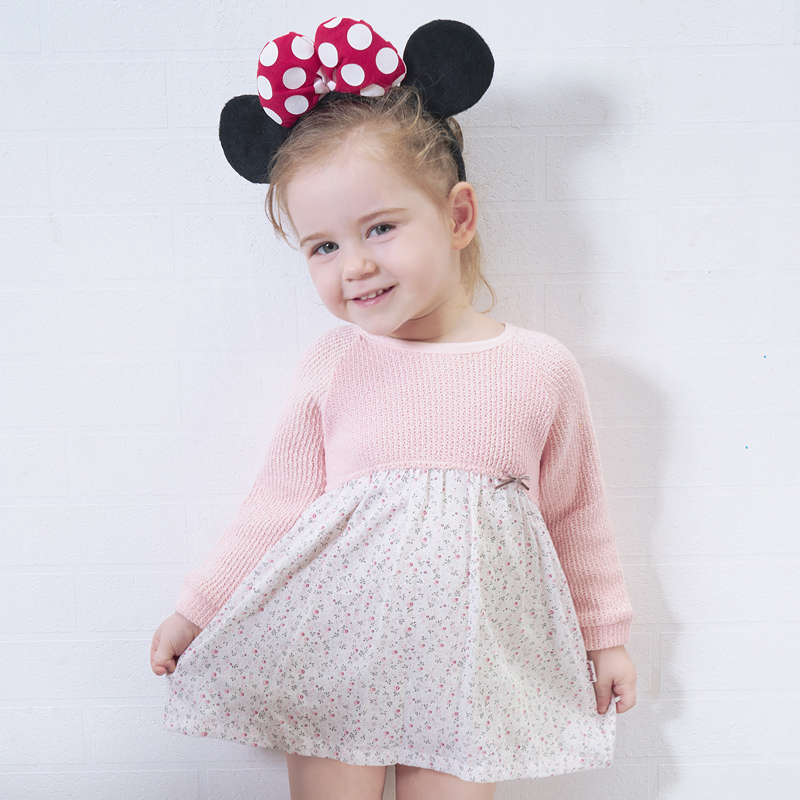 Toddler Dress Hot Direct Selling Promotion Lolita Style Cotton Little Girls Baby Cute Casual Autumn Long Sleeve O-Neck Dress casual skew neck long sleeve mini tight dress