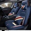 (Frente + trasero) de cuero especial cubiertas de asiento de coche para peugeot todos los modelos 205, 307, 206, 308, 407, 207, 406, 408, 301, 607, 3008, 4008 de