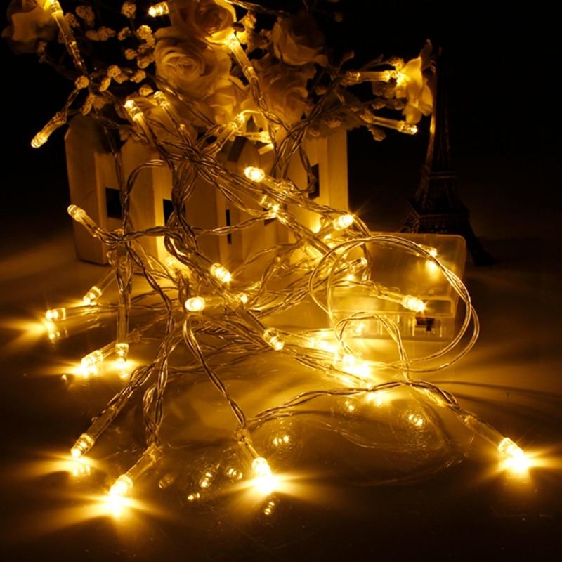 10 LED Batteri Ström Jul Bröllopsfest String Fee Färgglada - LED-belysning